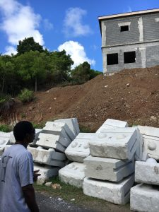 Building Project on St. Croix with Retaining Wall