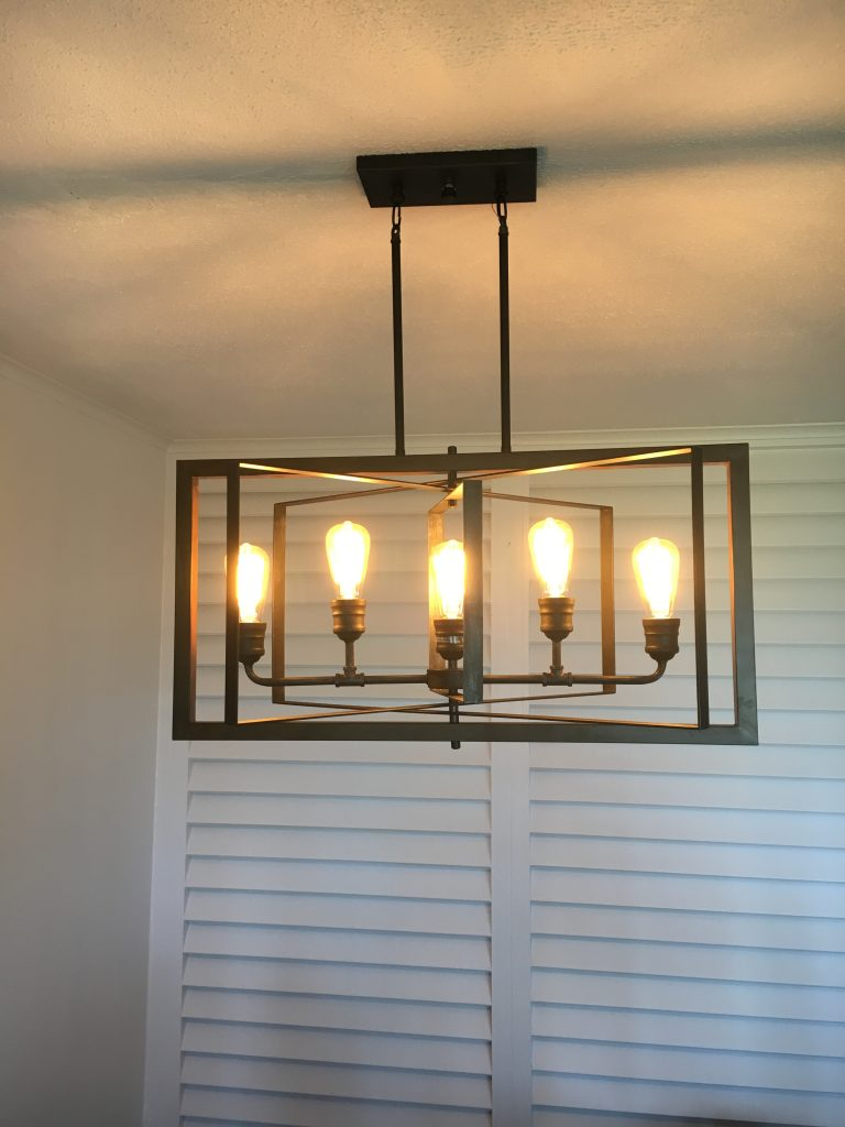 New Light Fixtures Installed