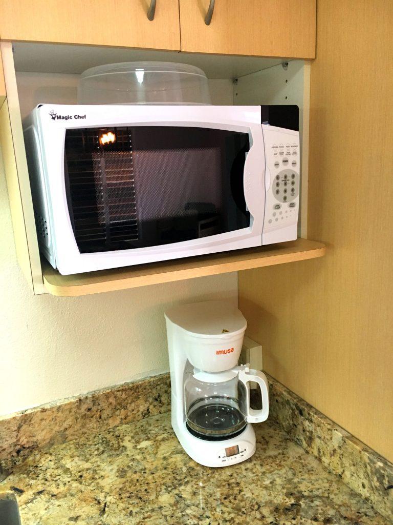 Microwave and Coffee