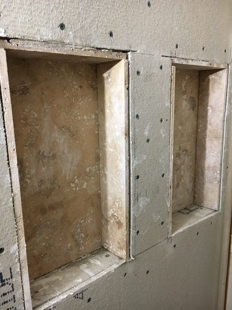 Shower Shelves Built In