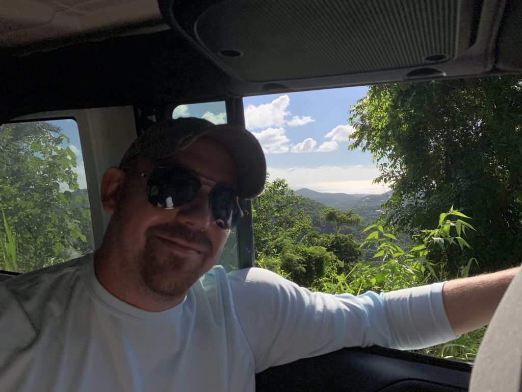 Brother Chris on a Rain Forest Jeep Trail