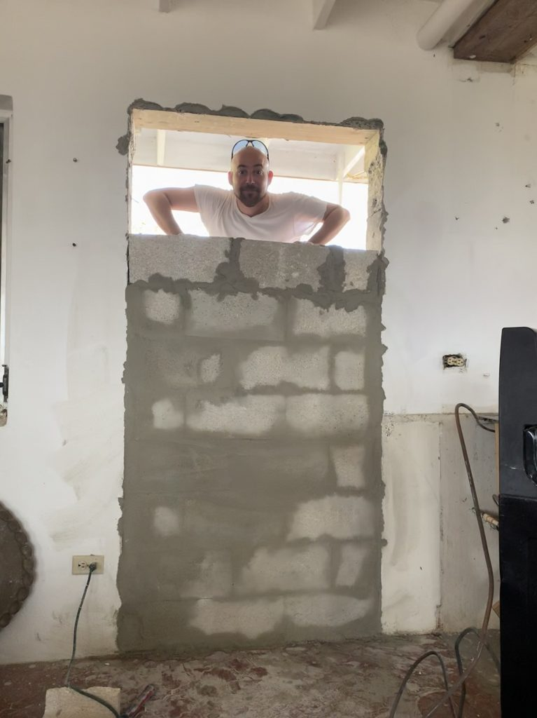 Blocking Up The Doorway!
