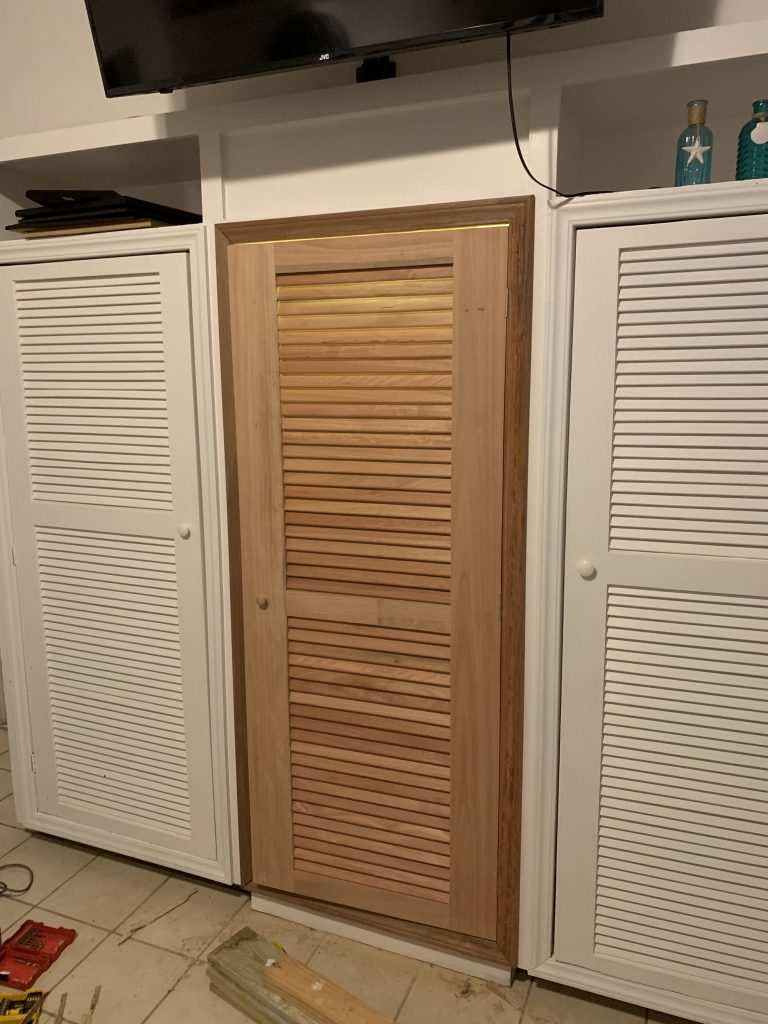 Closet Before Painting to Match