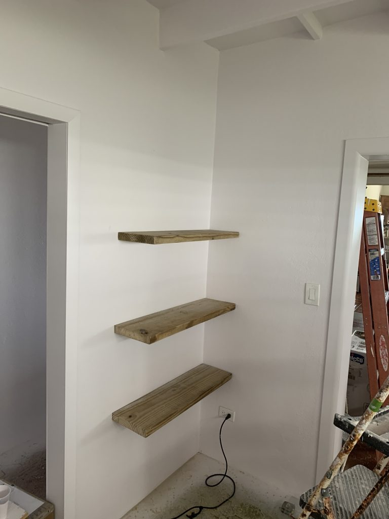First Shelves on the Wall