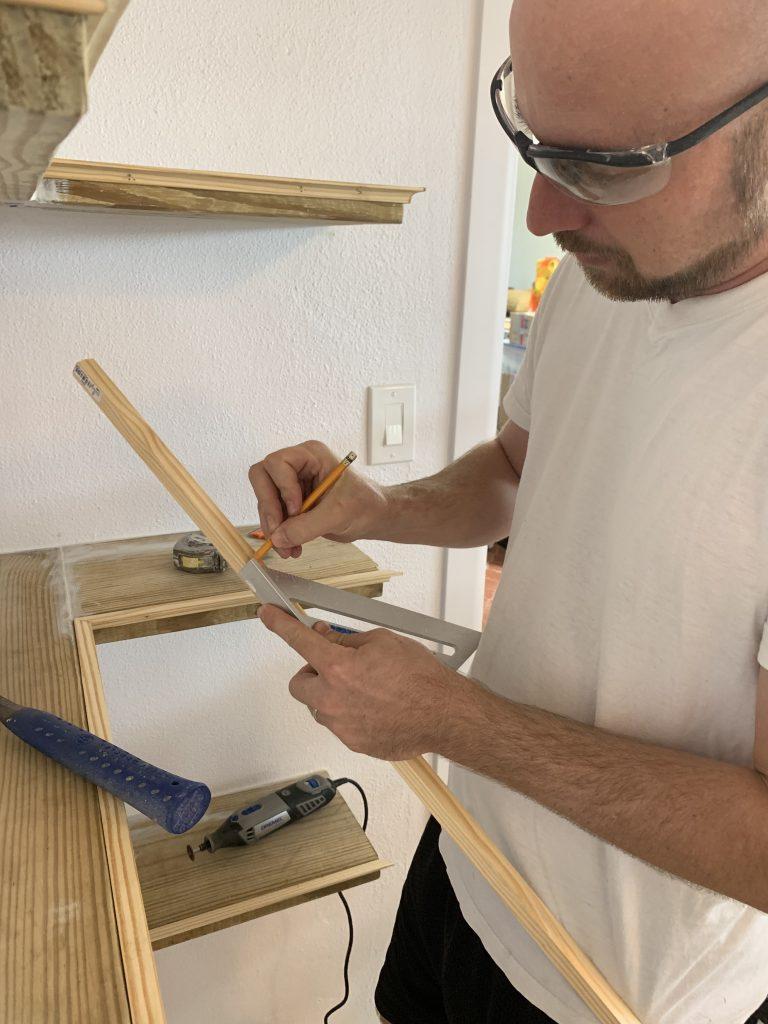 Adding Decorative Trim to Shelves