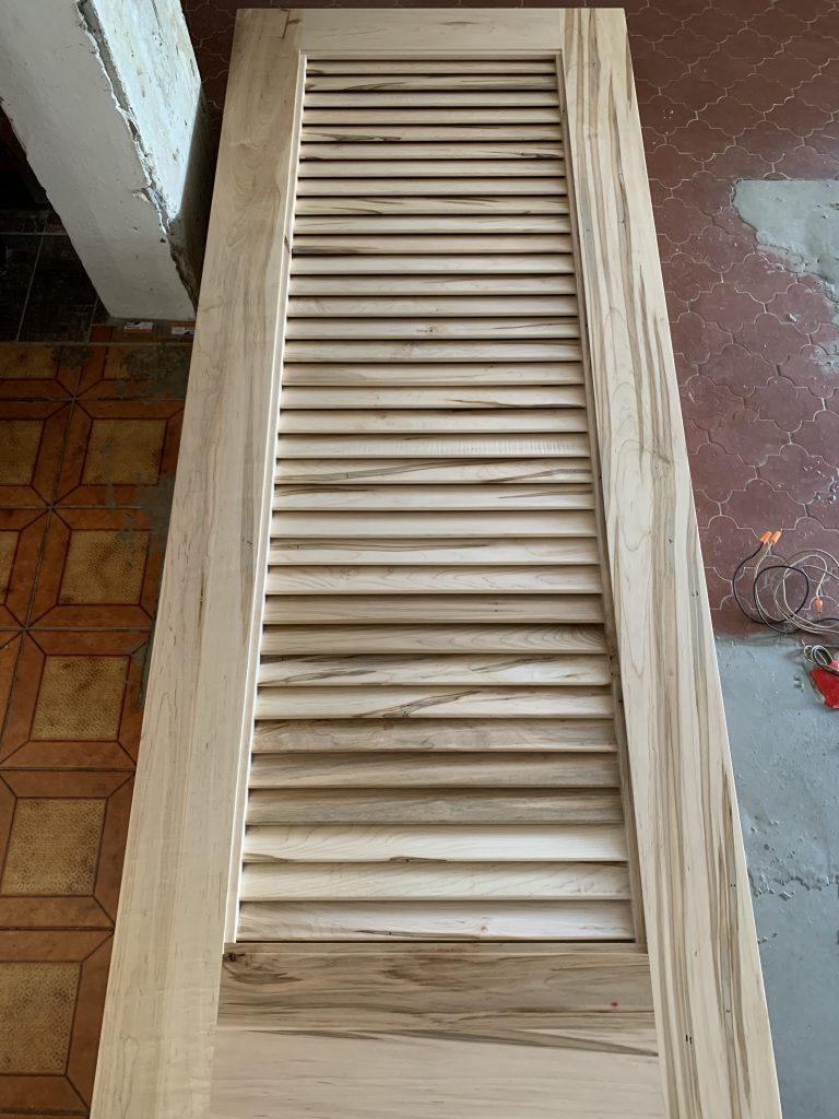 Custom Barn Doors - Wormy Maple