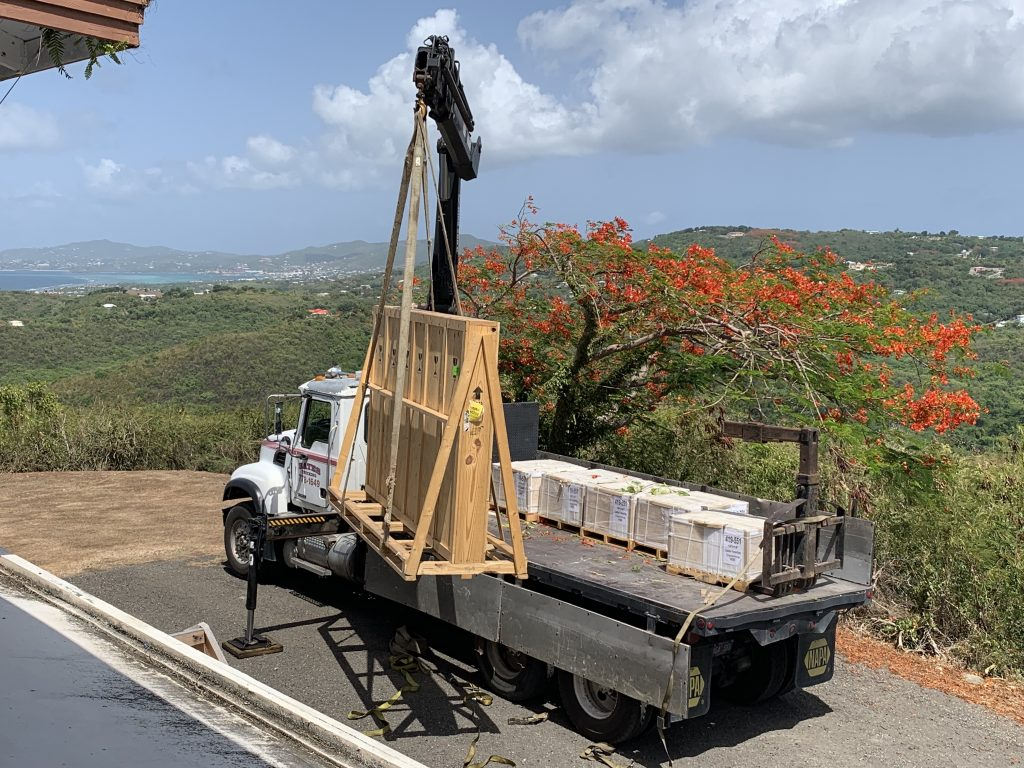 Bates Trucking Crane Truck on St. Croix