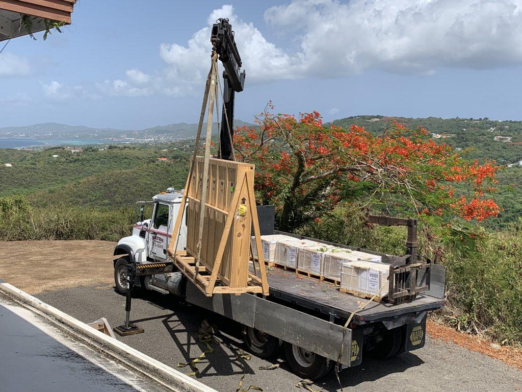 Bates Trucking Crane Truck on St. Croix